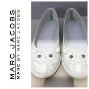 Marc Jacobs perforated leather mouse flats